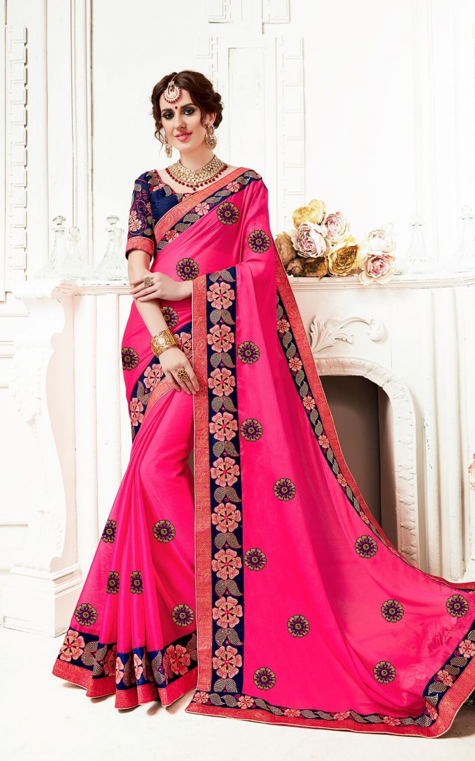 db3fd8e9d90d6 Buy Fashion Zonez Designer Embroidery Saree at low prices in India only on  Winsant.com