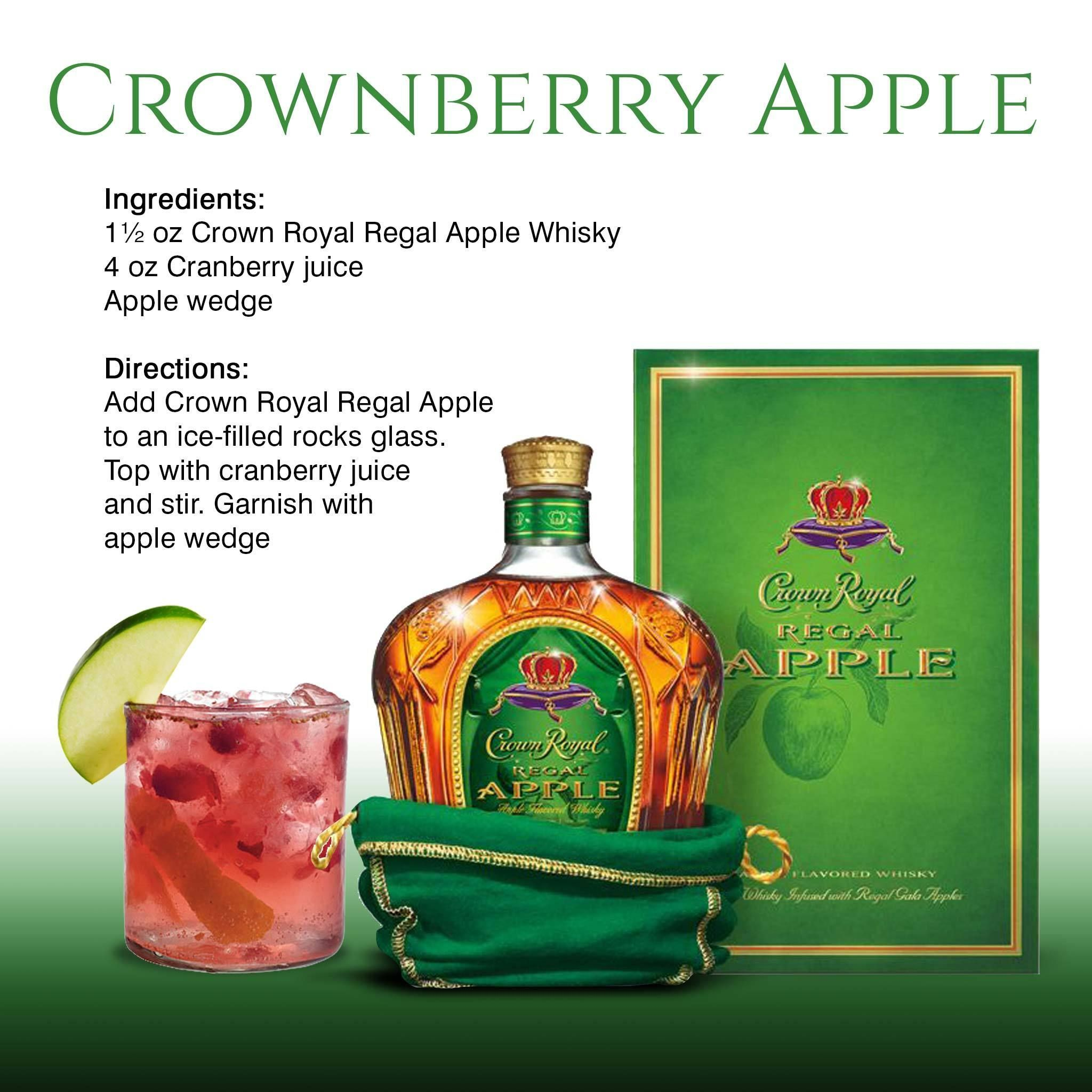 Crownberry Apple Recipe Featuring Crown Royal Regal Apple