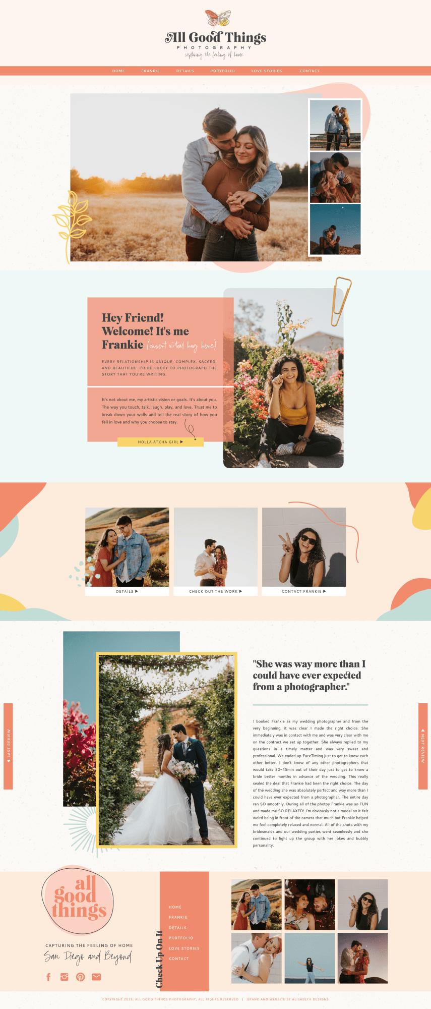 Wedding Photographer Website In 2020 Photographer Website Web Design Fashion Website Design