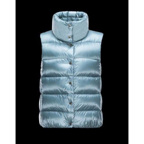 Moncler Bodywarmer Womens Moncler Sources Gilet Women Mint Blue