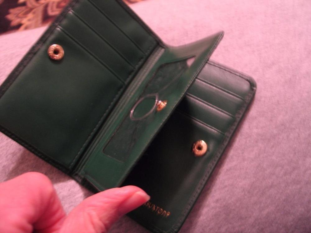 Buxton velvet touch cowhide mini wallet case credit card