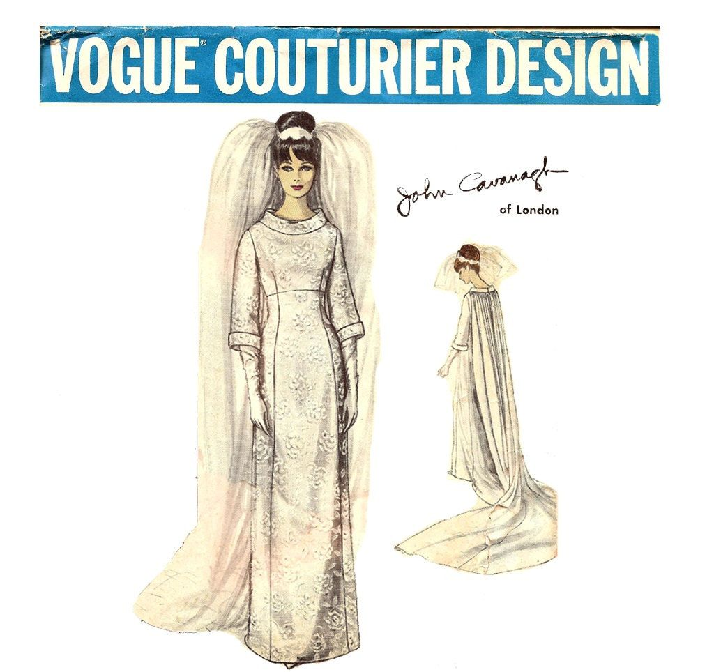 Patterns for wedding dresses  s Vogue Couturier Design  Designer Wedding Dress Pattern