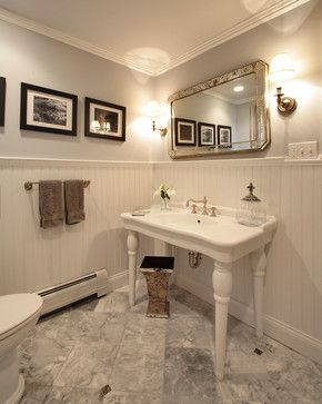 15 Elements of Today\'s Vintage-Inspired Baths From Houzz | Powder ...