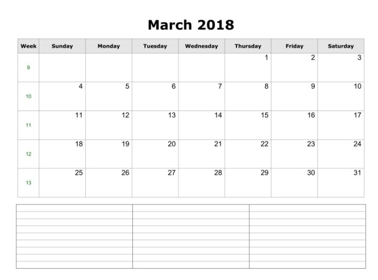 March  Printable Calendar Download  Maxcalendars