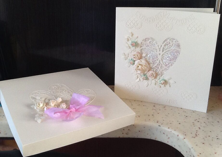 Wedding card and box made by Fiona