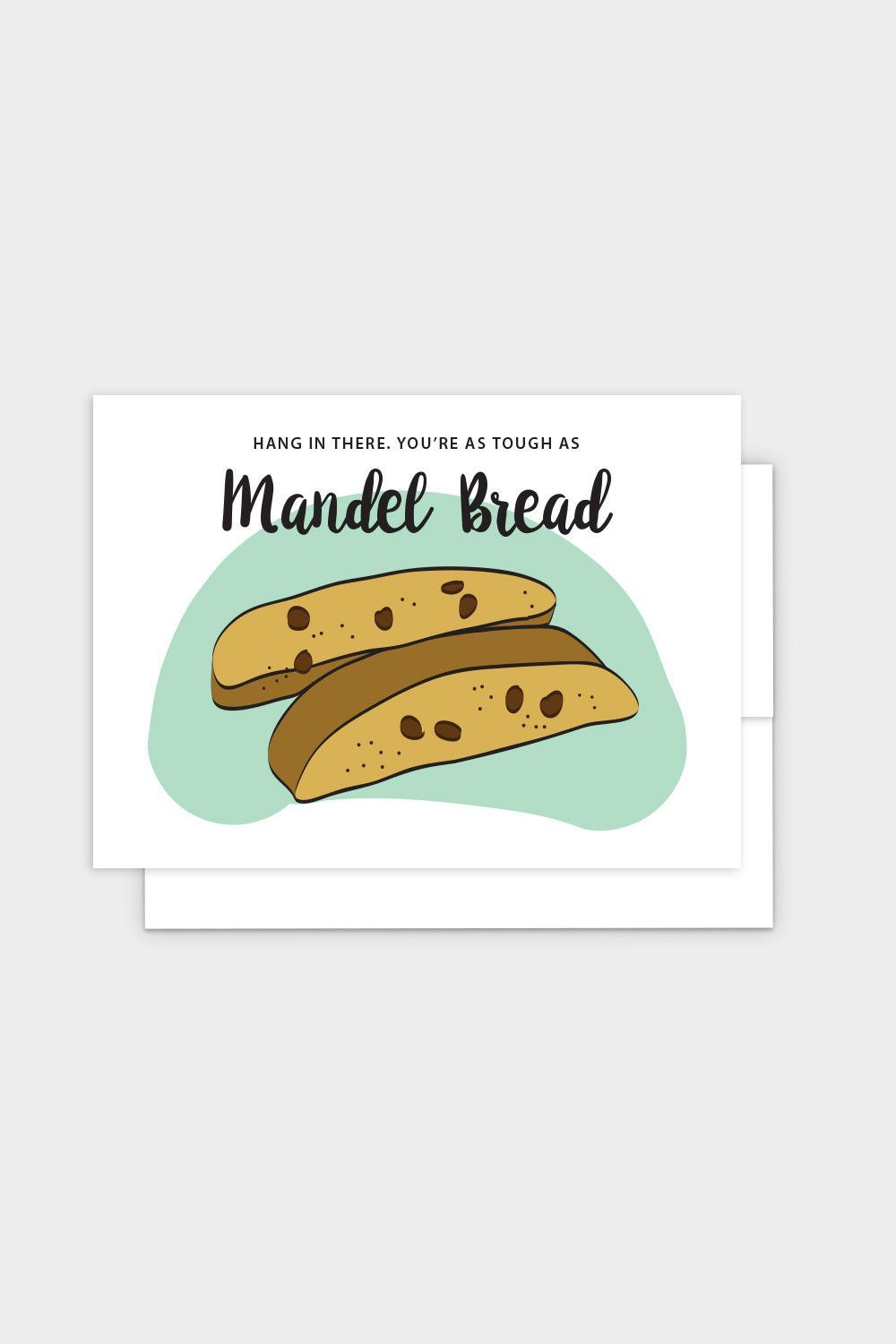 Hang In There Mandel Bread Jewish Greeting Card Pinterest Products