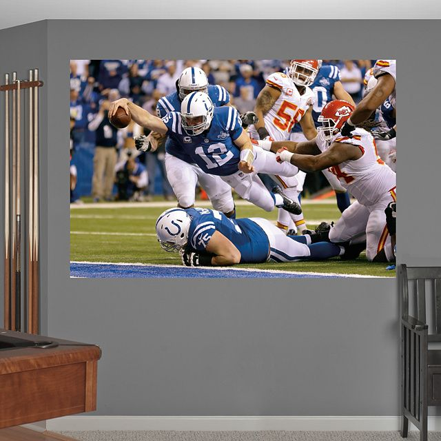 Andrew Luck - AFC Wild Card Comeback Mural REAL.BIG ...
