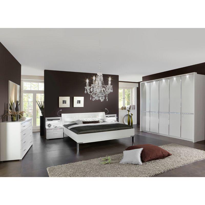 Schlafzimmer Set DAIBU230 alpinweiß Nachbildung, mit - schlafzimmer komplett