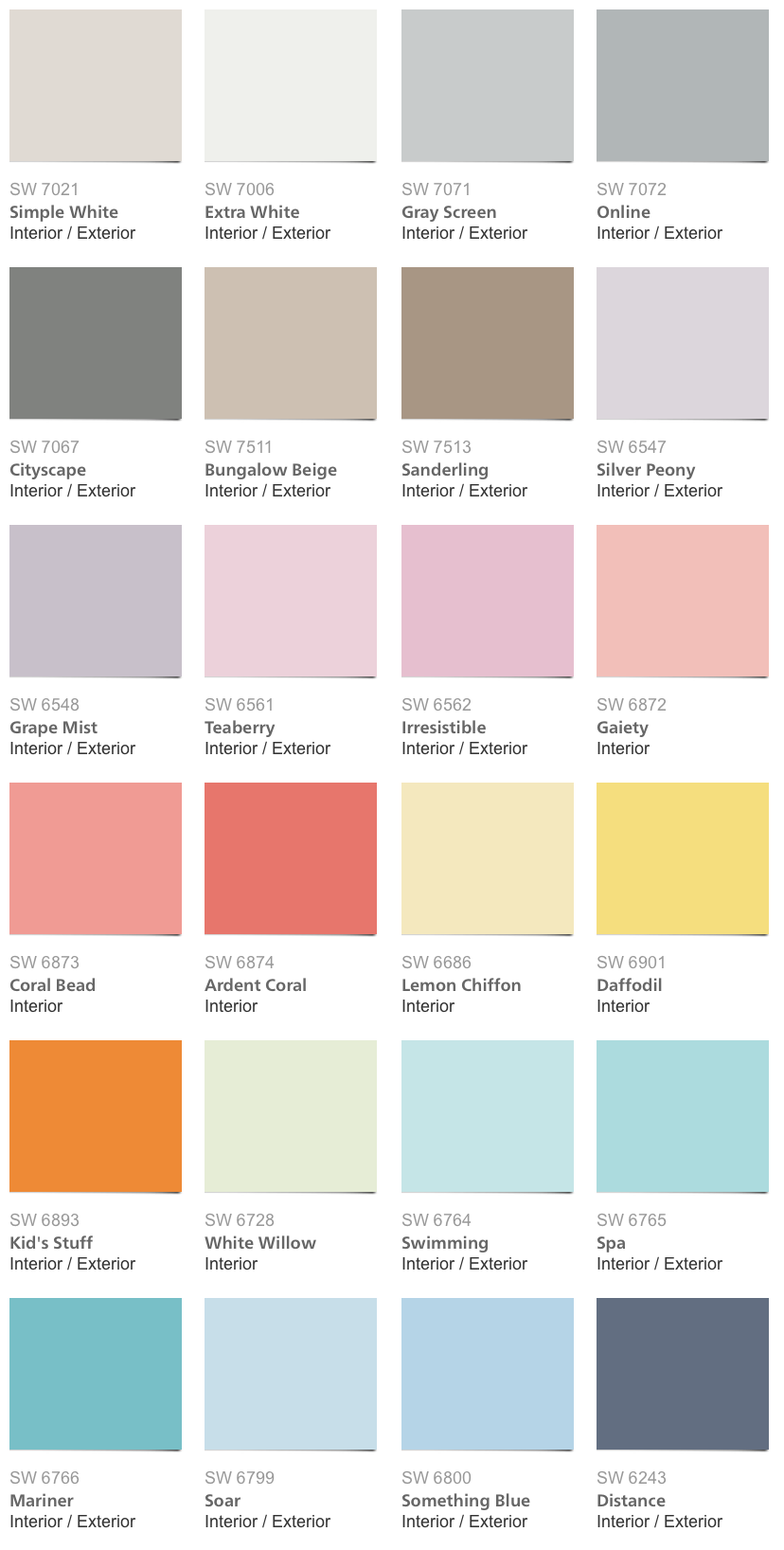 sherwin williams pottery barn kids color palette 2014 home decor