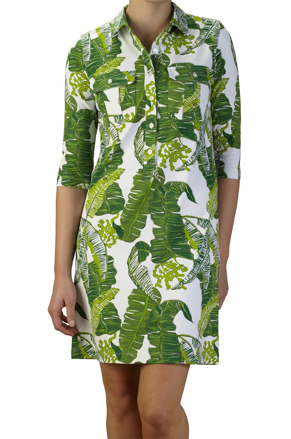 Winpenny Dress- Tobago in Chartreuse Green | Persifor