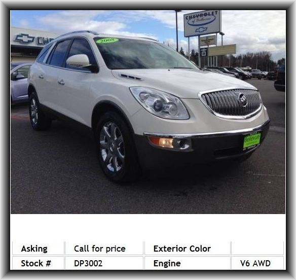 2008 Buick Enclave Cxl Suv Floor Mats Reading Lights Power Mirrors Engine Immobilizer Third Row Tire Pressure Monitoring System Buick Enclave Kids Seating