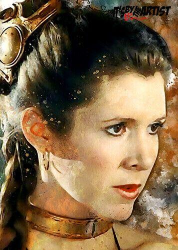 ACEO ATC Sketch Card - Star Wars - Princess Leia Organa #Realism