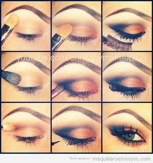 imagenes de como pintarse los ojos fotos podreis aprender de forma facil sencilla como maquillar - Pintarse Los Ojos