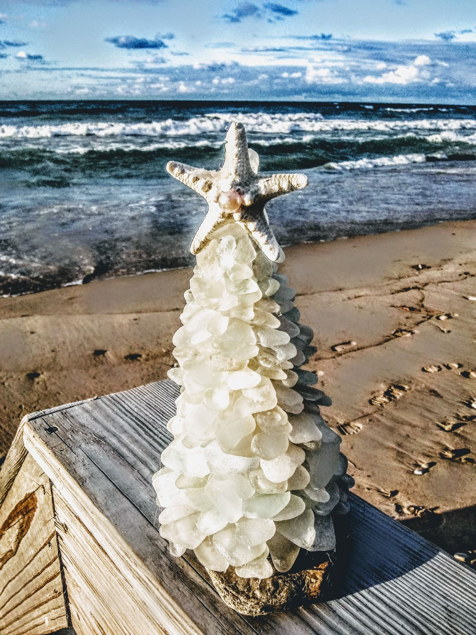 A Day at the Beach beach art unique gifts from Cape Cod sea ocean pottery
