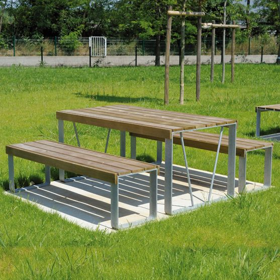 atlantique picnic benches and table mobilier urbain area. Black Bedroom Furniture Sets. Home Design Ideas