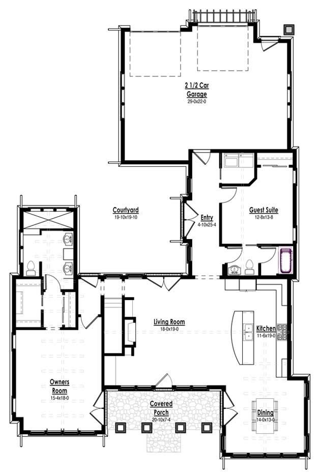 The Red Cottage Floor Plans Home Designs Commercial Buildings Architecture Custom Plan Design Concept I