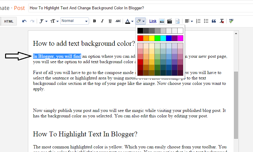 How To Add Text Background Color In Blogger Colorful Backgrounds Text Background Change Background