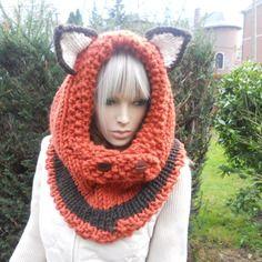 tricoter un bonnet renard