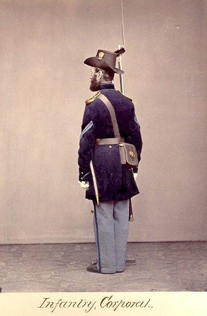 American Civil War Enlisted Uniforms - Infantry Corporal   American civil war, Civil war reenacting, Civil war history