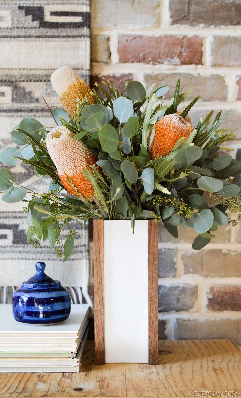 15 Minute DIY Fall Floral Vases Fall decor, Vase, Flower