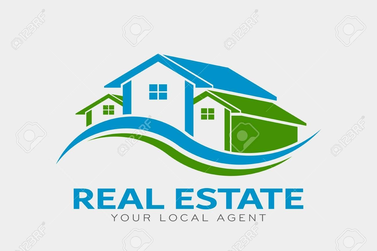 Real Estate Logo Template Houses With Roof And Windows House Logo Vector Icon Symbol Design Illustratio Real Estate Logo Real Estate Stock Photography