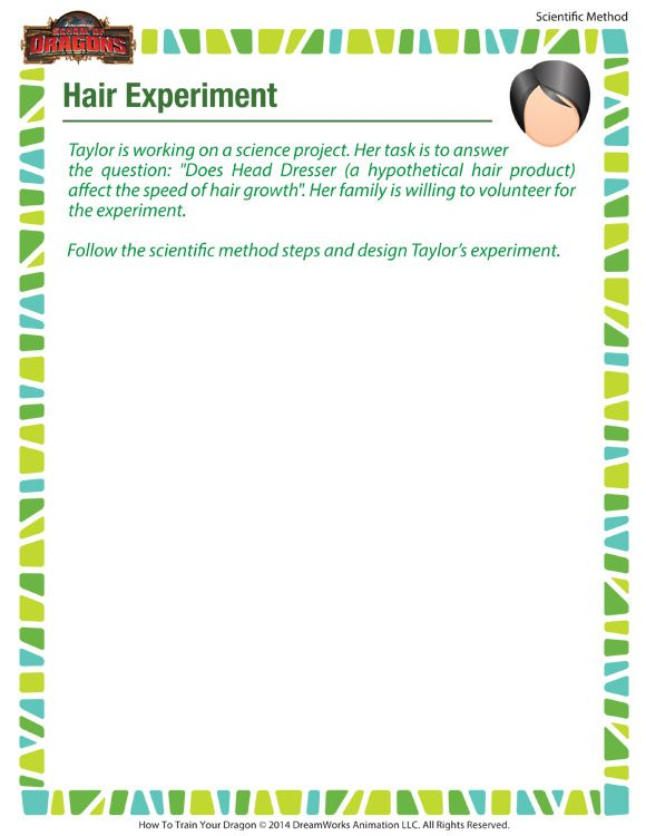 Hair Experiment Download Free Scientific Method Worksheets For