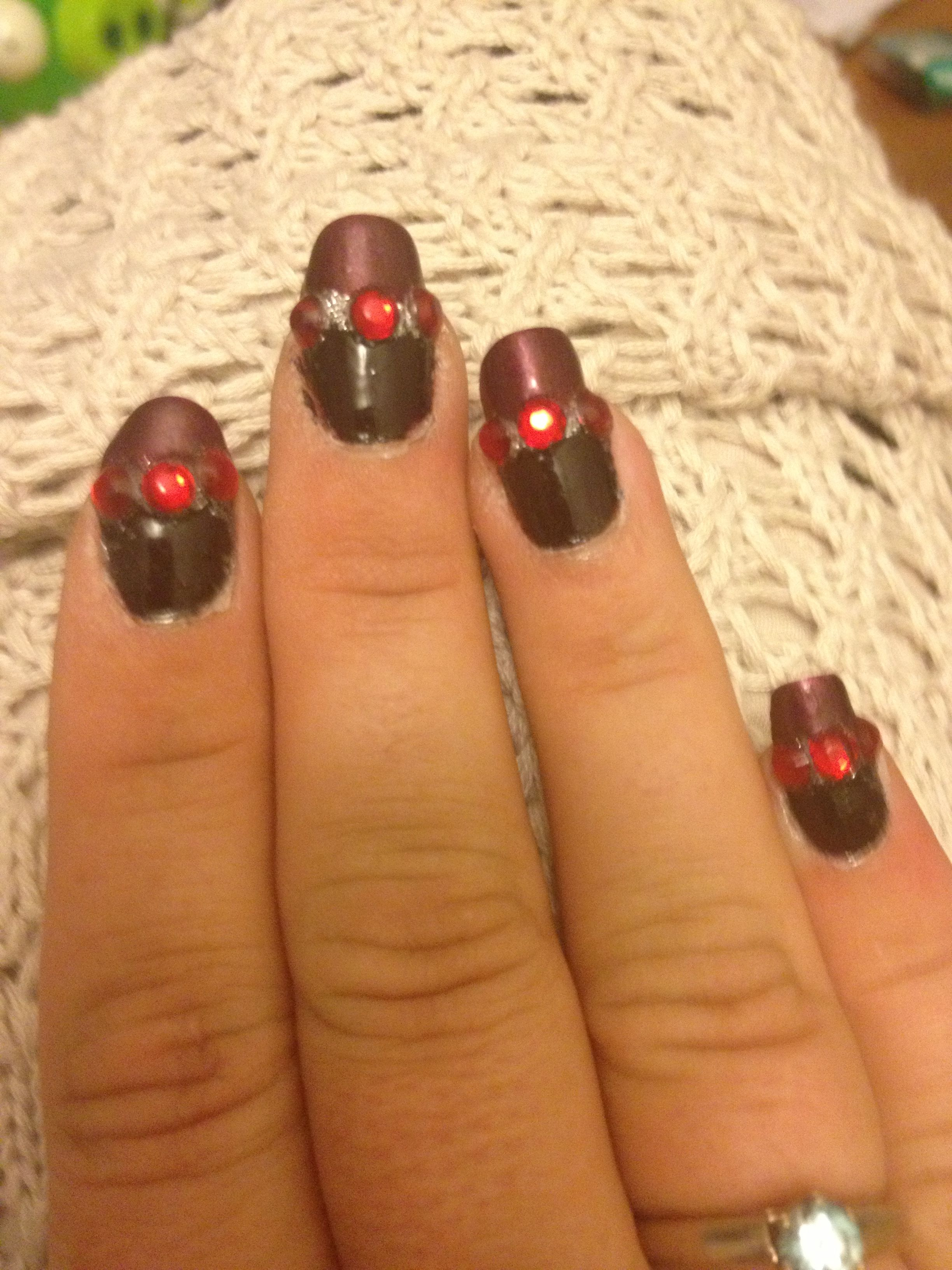 My First Attempt At A Nail Design This Elaborate In Over 15 Yrs