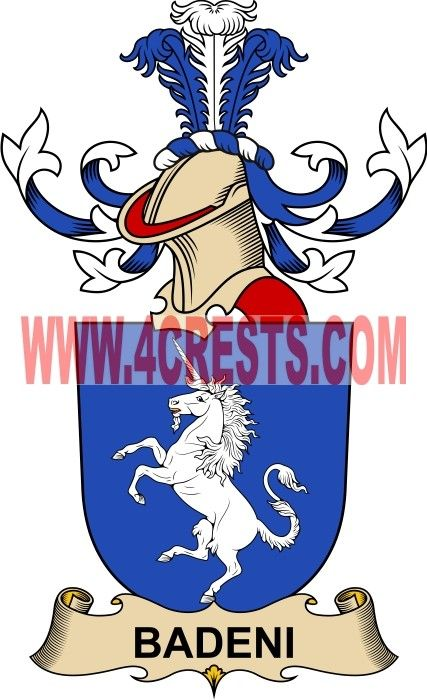 Badeni Coat Of Arms Family Crest By Name Symbol Heraldry Code