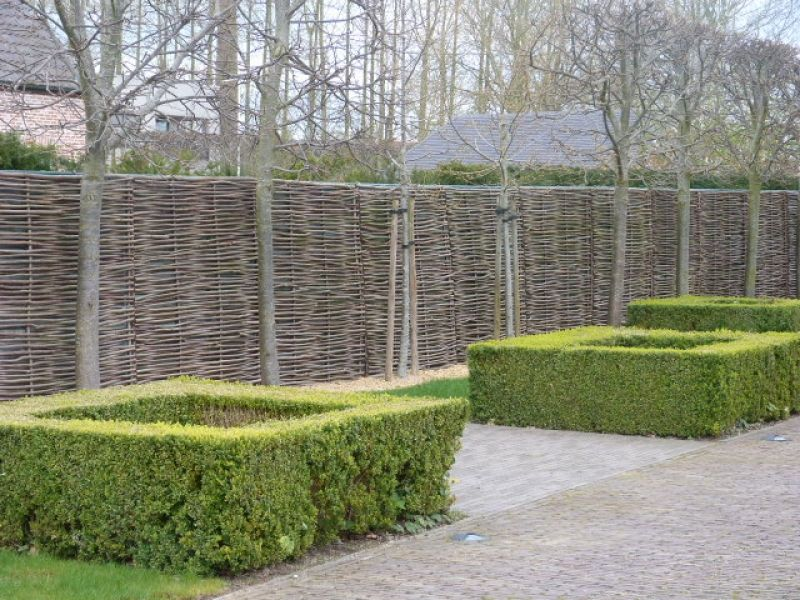 Panneau pour cloture en noisetier tresse qualité pro en bois ...