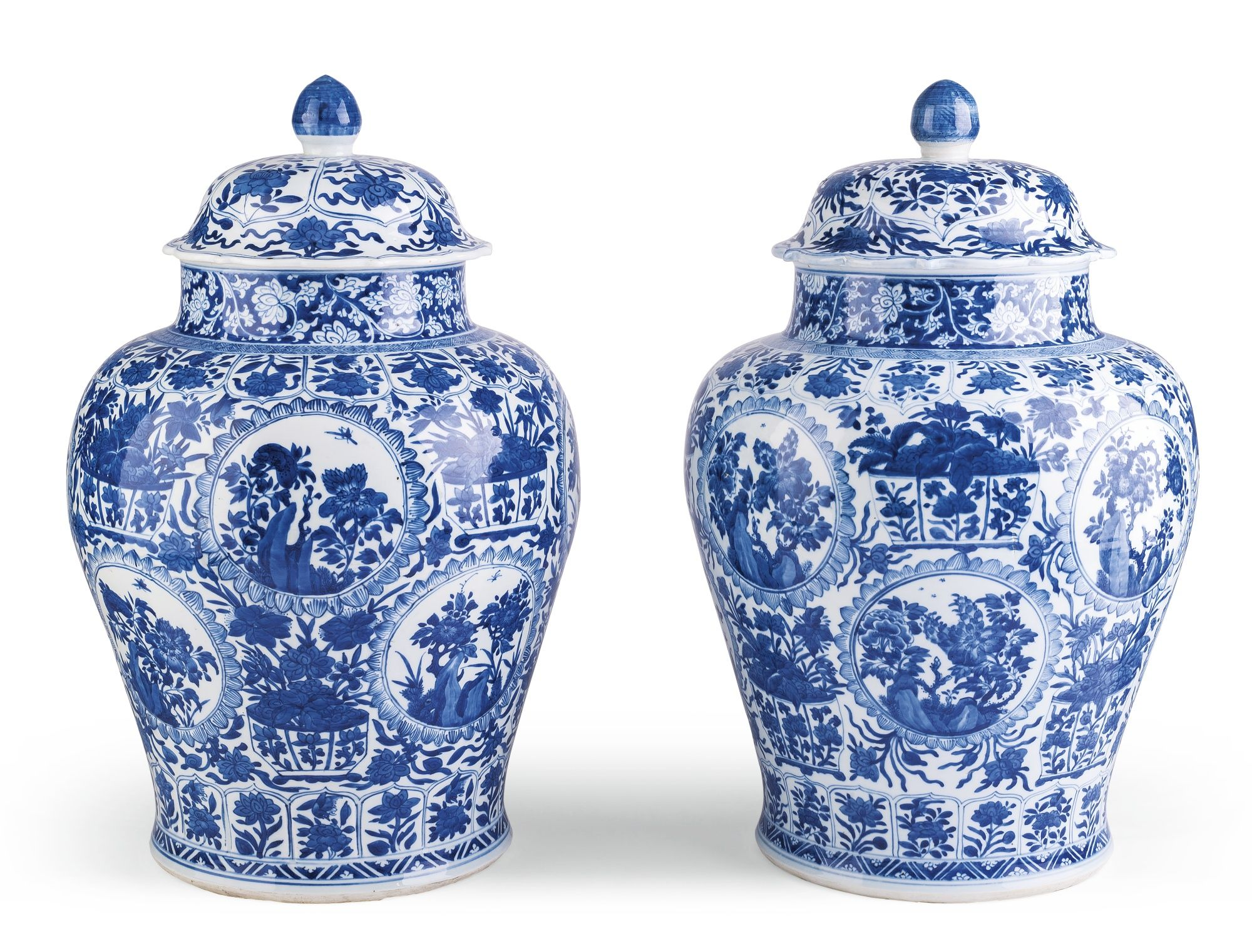 A pair of large blue and white baluster vases and coversbrqing a pair of large blue and white baluster vases with covers qing dynasty kangxi period sothebys reviewsmspy