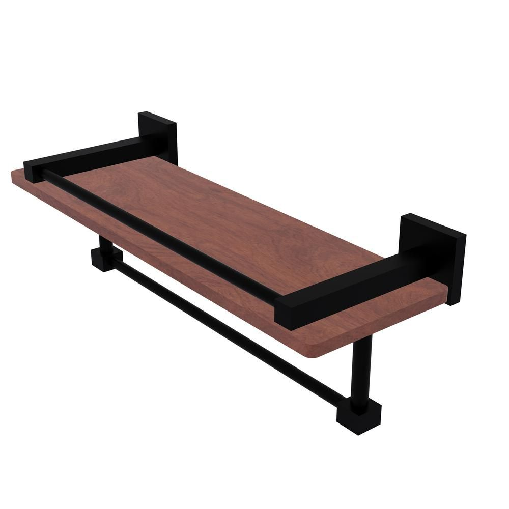 Allied brass montero collection in ipe ironwood shelf with