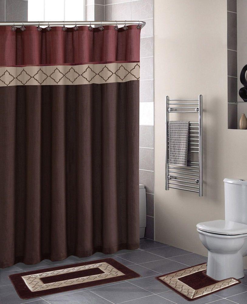 Bathroom Shower Curtain And Rug Set Bathroom Curtain Set Modern