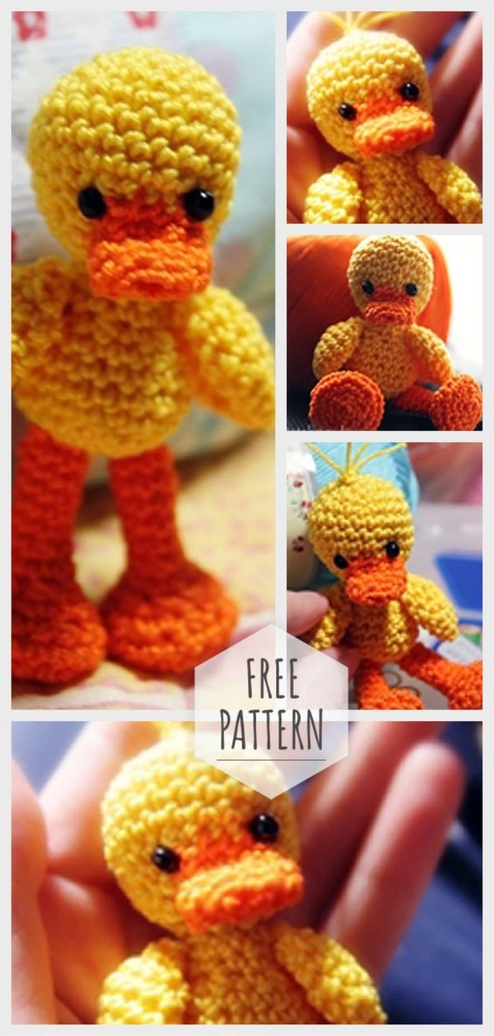 Amigurumi Little Duck Free Pattern #dolldresspatterns