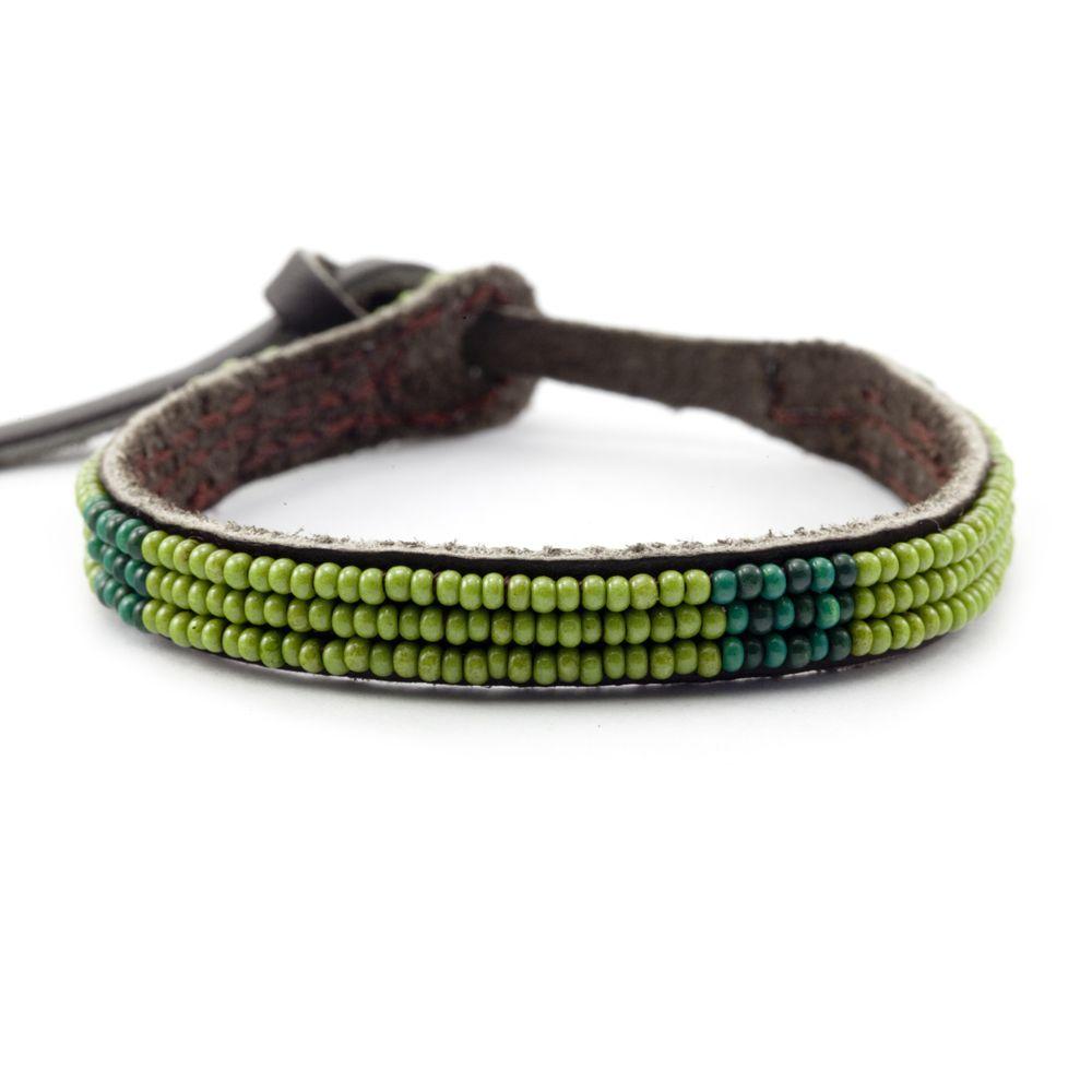 Chan Luu - Green Olive Combo Seed Bead Bracelet, $20.00 (http://www.chanluu.com/bracelets/green-olive-combo-seed-bead-bracelet/)