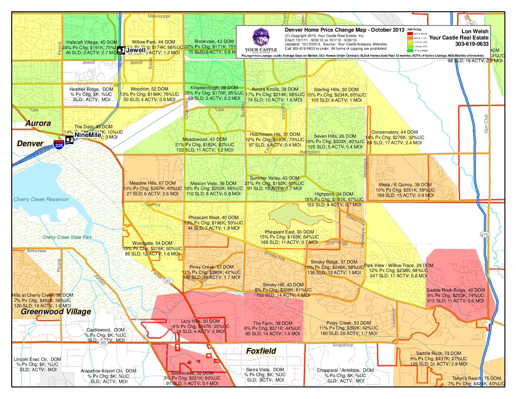 This map is of the southern area of Aurora for the 3rd quarter of ...