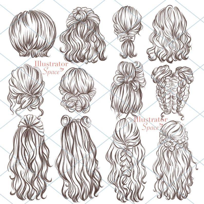 10 hair Art sketch ideas