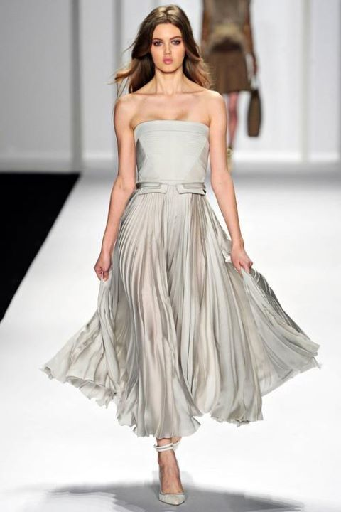 love this pale grey dress!
