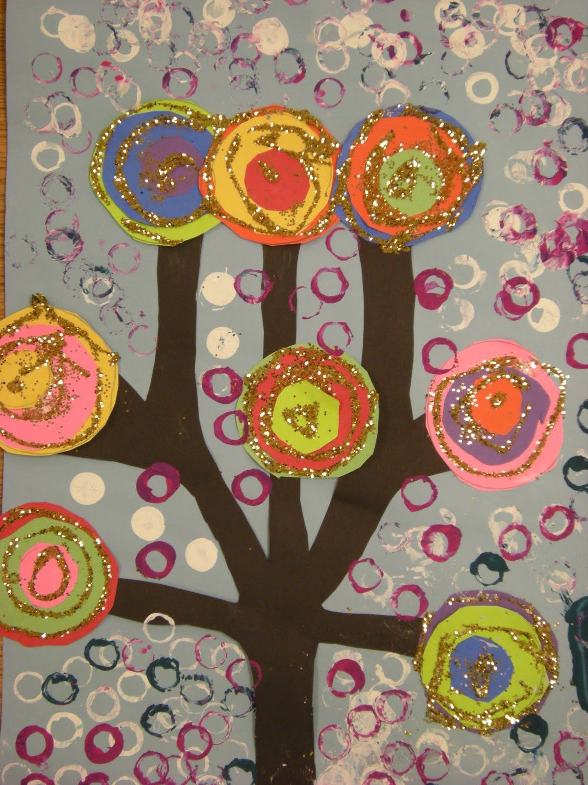 The 1st Grade Students Stu D Wassily Kandinsky And Abstract Art They Each Were Able To Make A