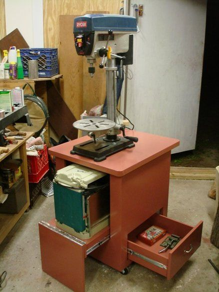 Drill Press and Planer Cart