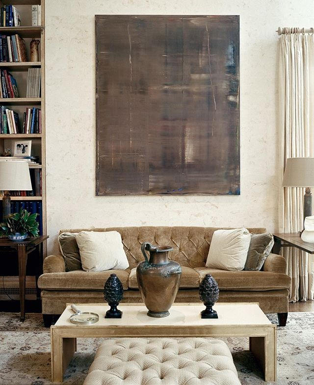 Home Librarydesign Ideas: A Gerhard Richter Painting Is The Centerpiece Of The