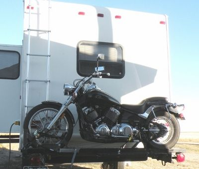 My Motorcycle Lift Goes Through Another Evolution Motorcycle Carrier Motorcycle Motorcycle Trailer