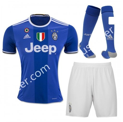 47f47e5e4 ... Serie A soccer kits. 2016-17 Juventus Away Blue Thailand Soccer Uniform  With Patches and Socks AAA
