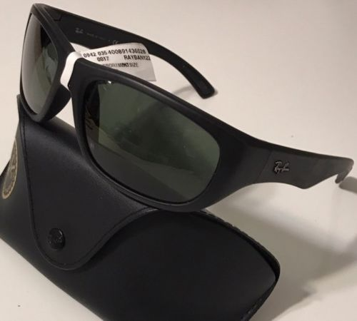 6ddea12a19 ... closeout nwt ray ban mens rb 4177 622 all black rubber covered 100 uv  sunglasses 63