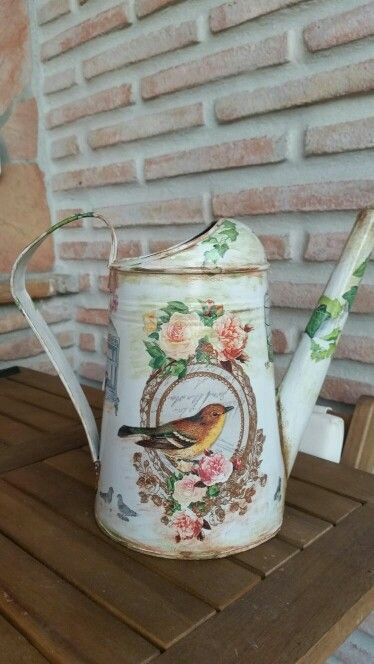 Regadera decoupage