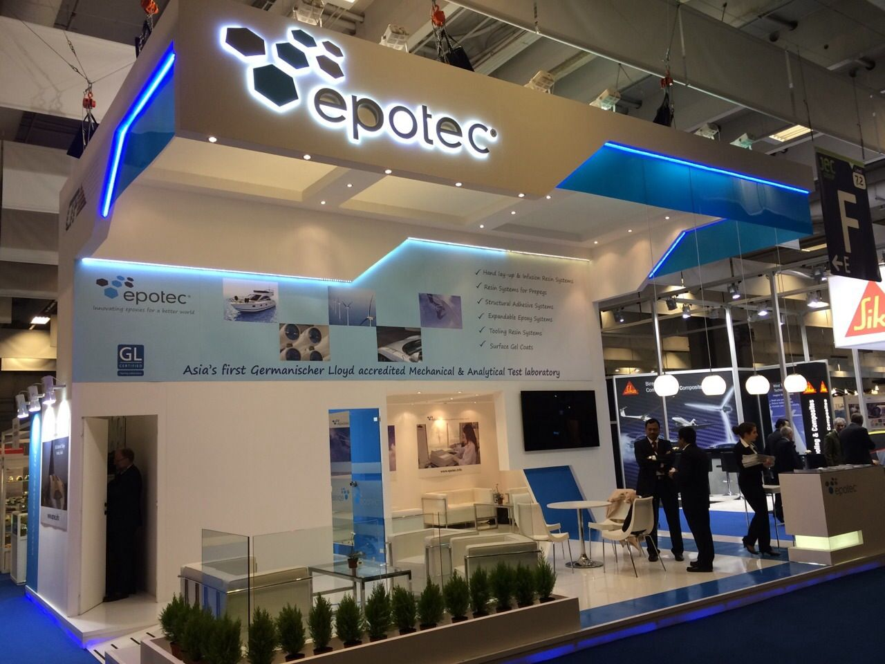 Exhibition Stand Europe : Custom exhibition stand for epotec jec europe paris to