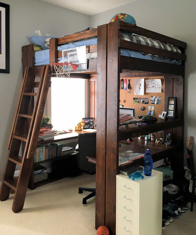 Bedroom Makeovers Using Loft Beds By College Bed Lofts Loft Bunk