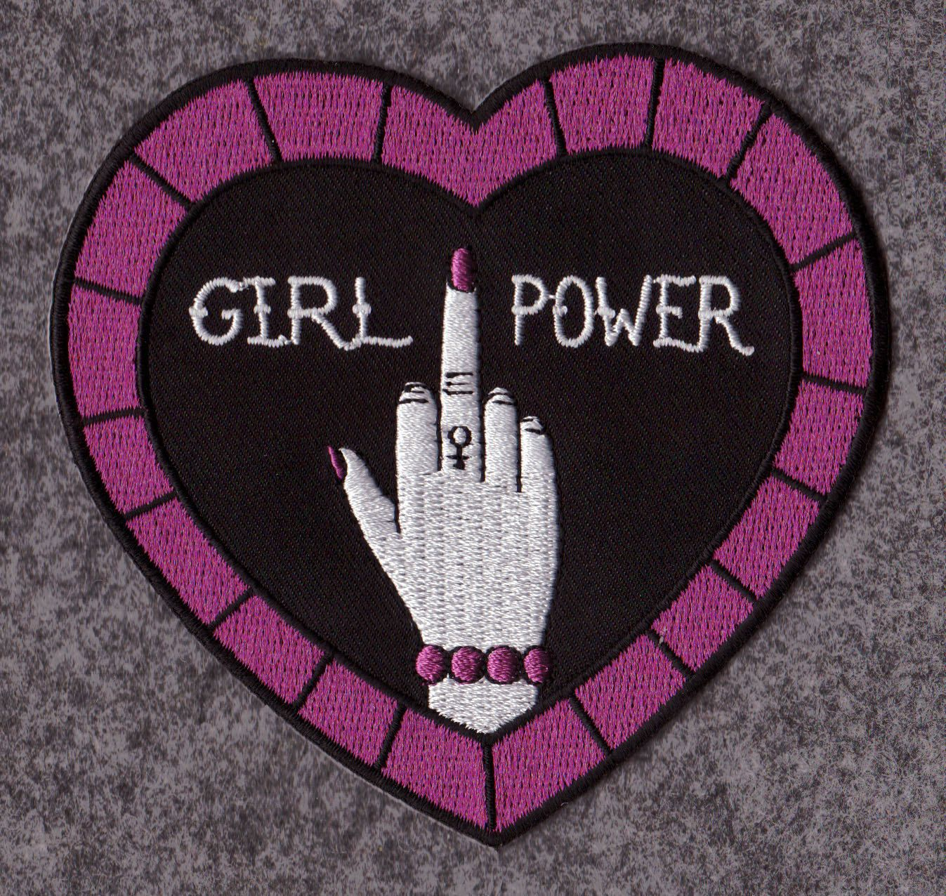 Girlpower feminist iron-on embroidered patch - women's liberation, girl power, art, hand-lettering, punk, hand-drawn, political by prettythingslive on Etsy