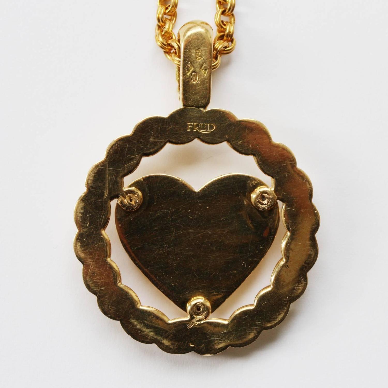 fred paris diamond gold heart pendant jewellery pinterest