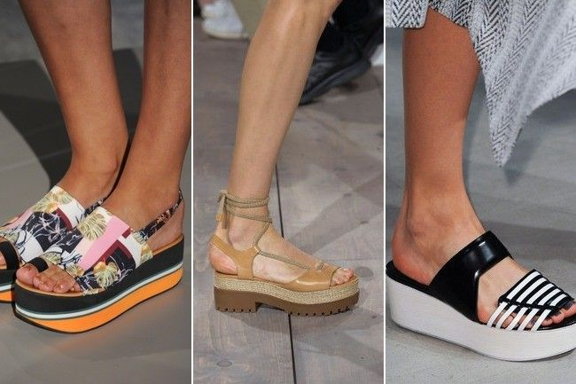 New York Fashion Week Spring 2015 Trends // Despite its polarizing effect, the flatform was the shoe of choice for several shows, including Clover Canyon, Michael Kors and Creatures of the Wind.