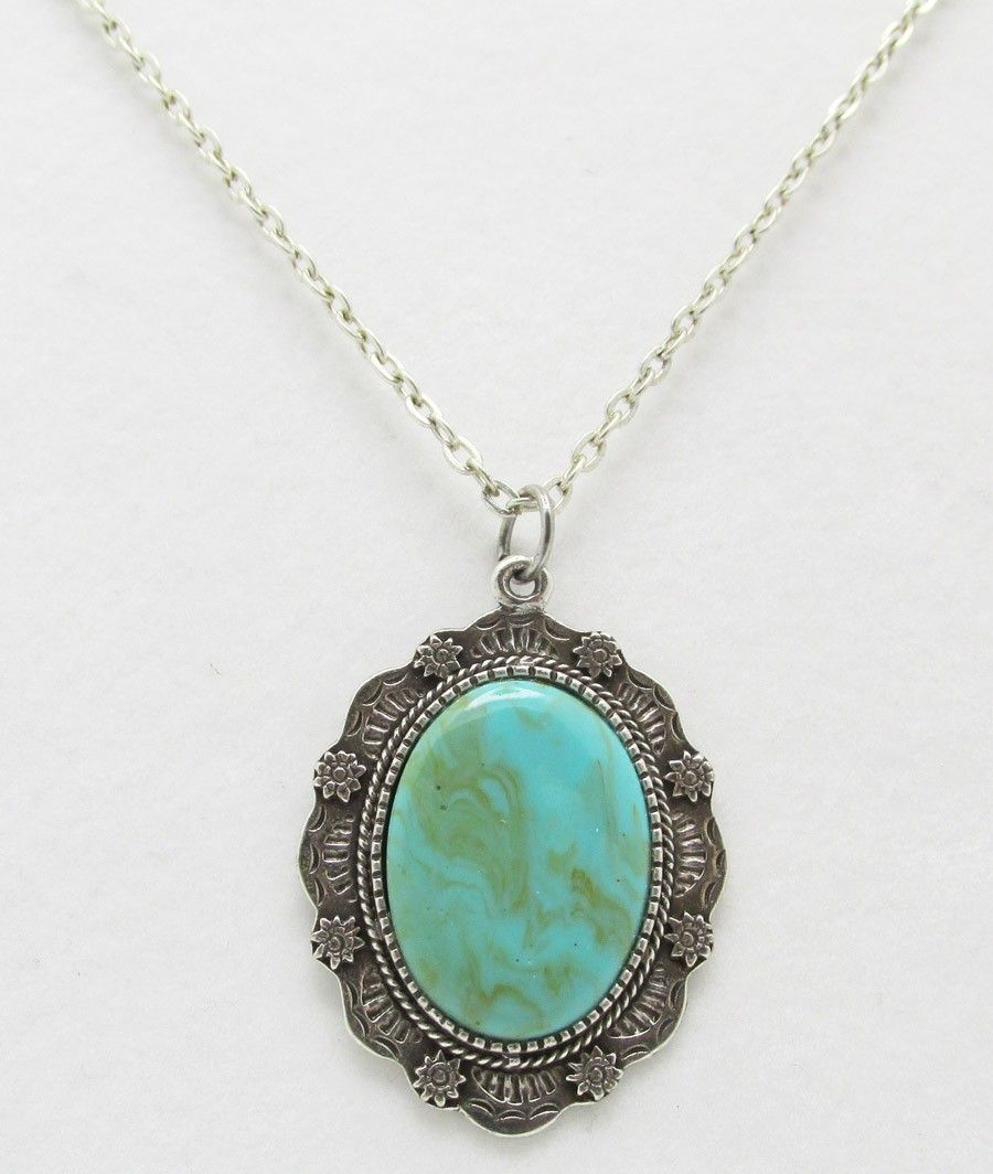 Concho Necklace - Turquoise